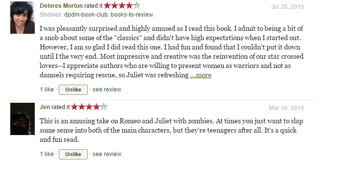 Goodreads reviews