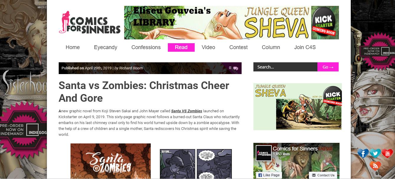 Christmas Zombie Santa.Article Santa Vs Zombies Christmas Cheer And Gore Koji